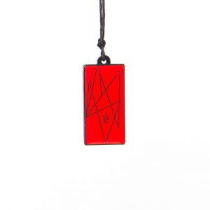 Rectangular Red 9 Harmonising Pendant