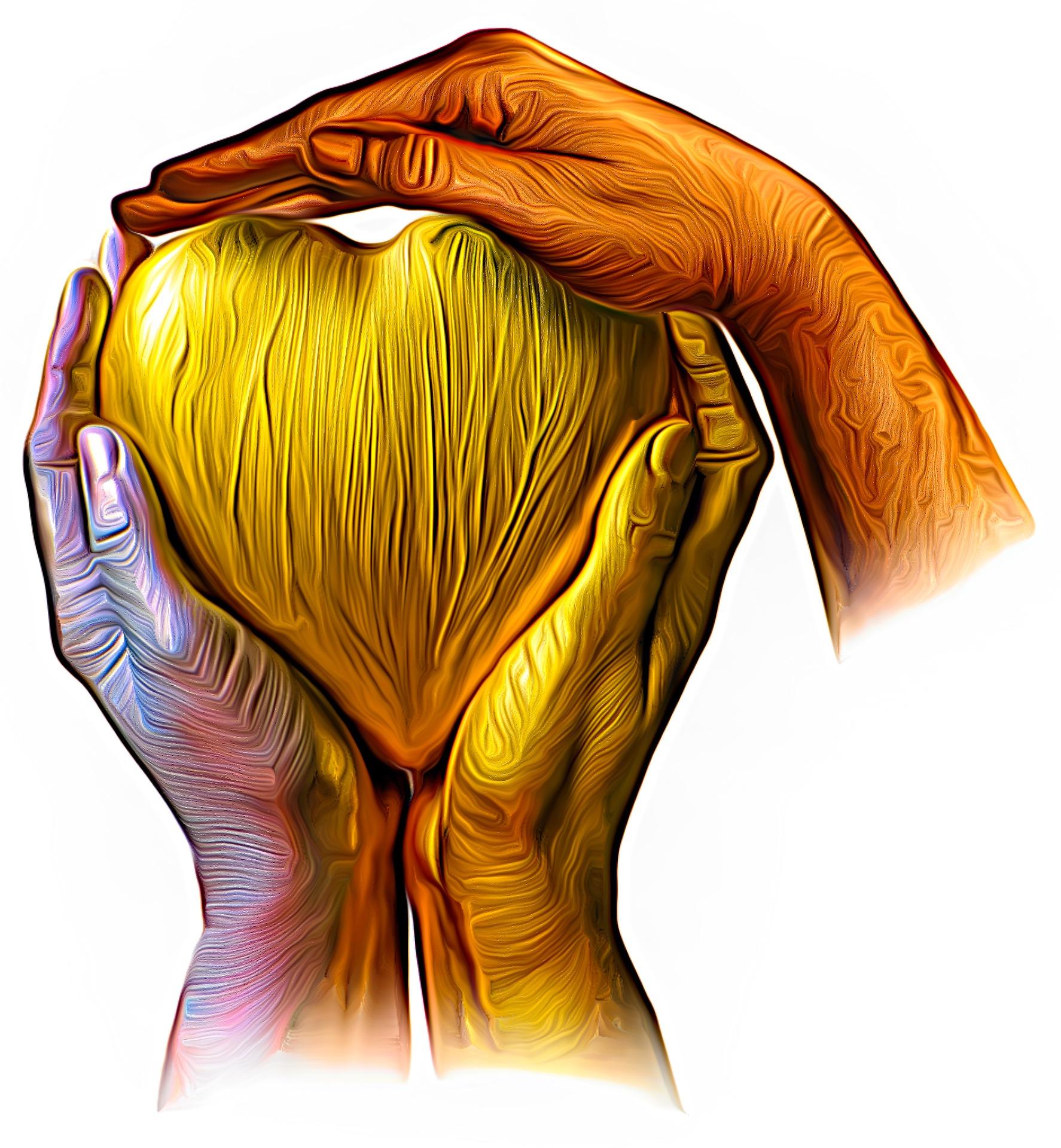 colourful image of human heart Marek Studzinski on Pixabay